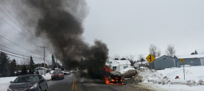 Accident de la route à St-Raymond