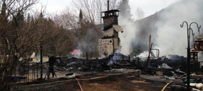 St-Raymond-Incendie de chalet