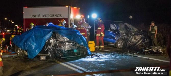 Deschambault-Grondines-Accident de la route