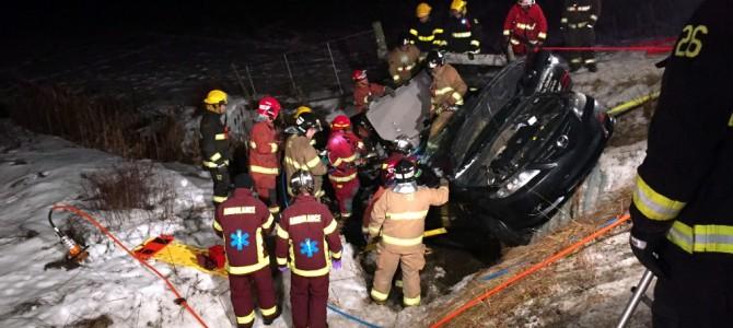 Accident de la route à St-Basile