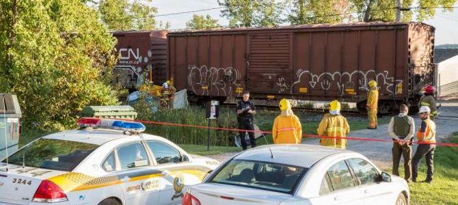 Accident entre une voiture et un train à Cap-Santé