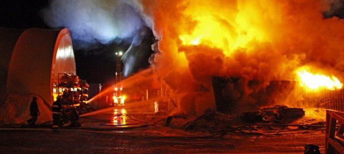 Incendie majeur chez Charbon de Bois Feuille d'Érable à Ste-Christine d'Auvergne