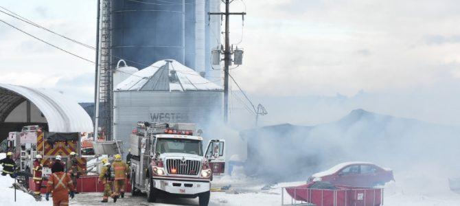 Incendie d'une ferme à St-Basile