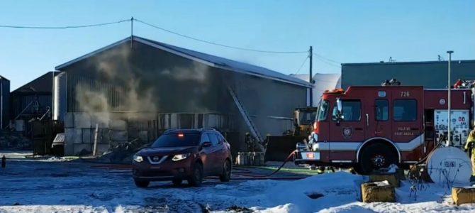 Incendie industriel à Ste-Christine d'Auvergne