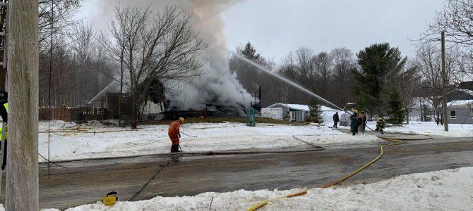 Incendie de résidence à Ste-Catherine-de-la-Jacques-Cartier