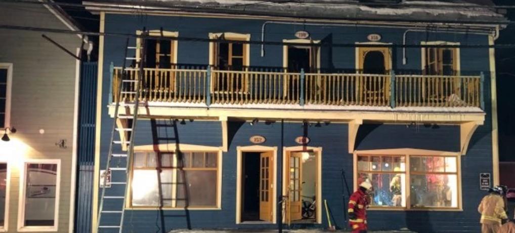 Incendie au centre-ville de St-Raymond