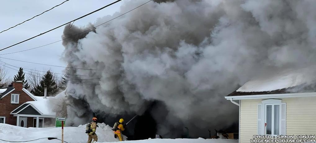 Incendie de résidence à Cap-Santé