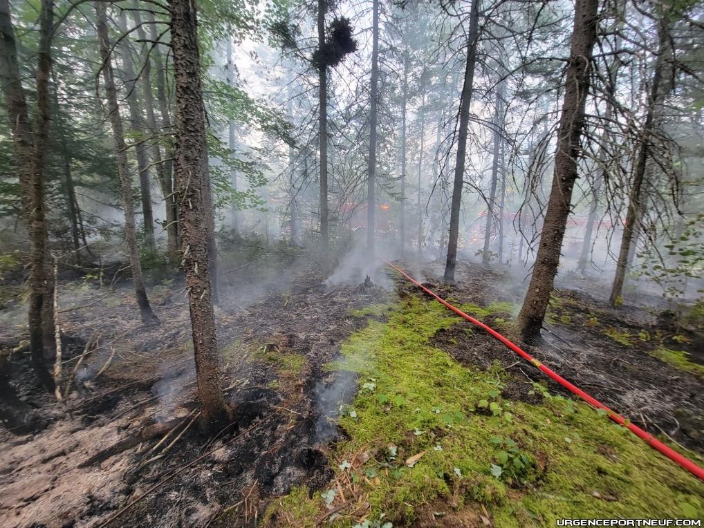 Début d'incendie de forêt à Ste-Christine d'Auvergne