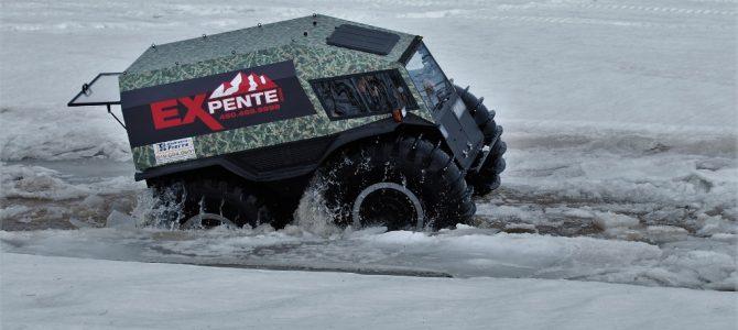 Test d'un nouveau véhicule amphibie sur la Ste-Anne à St-Raymond