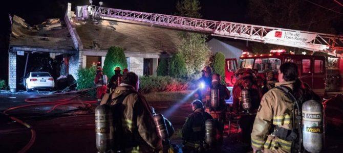 Incendie de résidence à Pont-Rouge