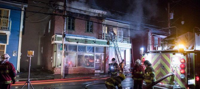 Incendie dans un immeuble du centre-ville de St-Raymond