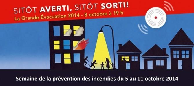 Semaine de la prévention des incendies 2014